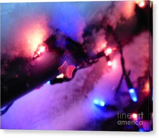 Open Heart Magical Lights Canvas Print
