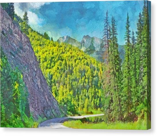 Open Road In The Colorado Rocky Mountains Canvas Print