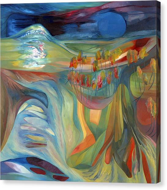 Canvas Print featuring the painting Open To Receive The Light by Linda Cull
