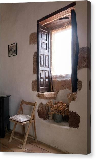 Old Houses Canvas Print - Open Window by Joana Kruse