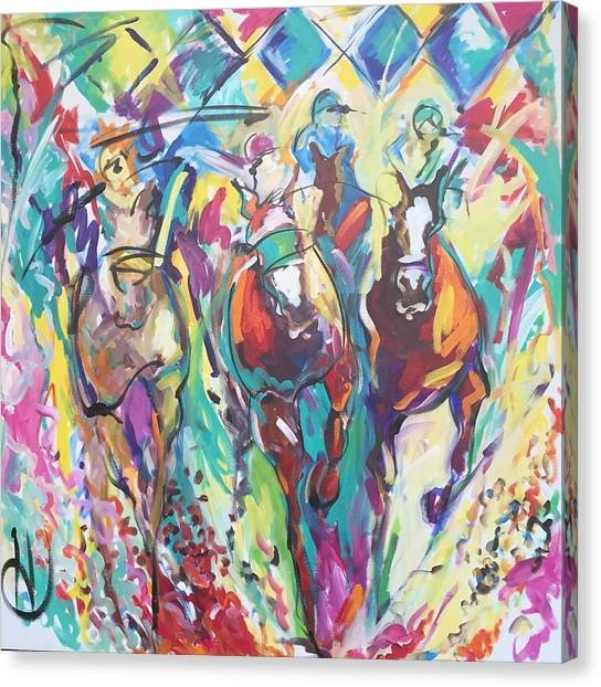 Opening Day In Del Mar Canvas Print