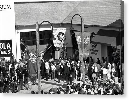 Mba Canvas Print - Opening Day Of The Monterey Bay Aquarium  Oct. 20 1984 by California Views Mr Pat Hathaway Archives