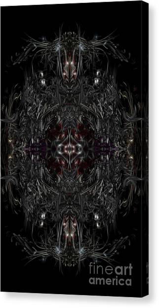 Canvas Print featuring the digital art Opening The Seal by Reed Novotny