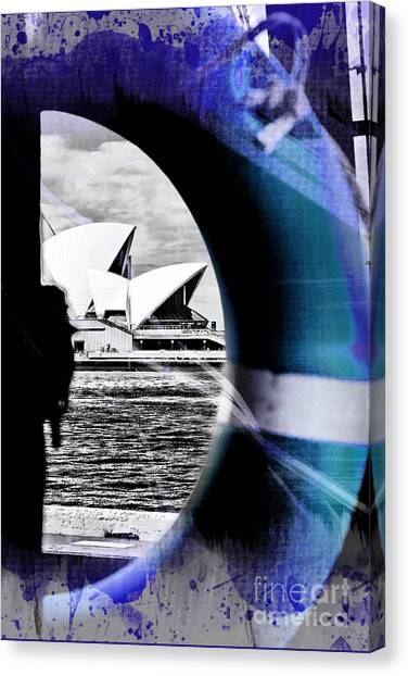 Sydney Harbour Canvas Print - Opera House Rescue by Az Jackson