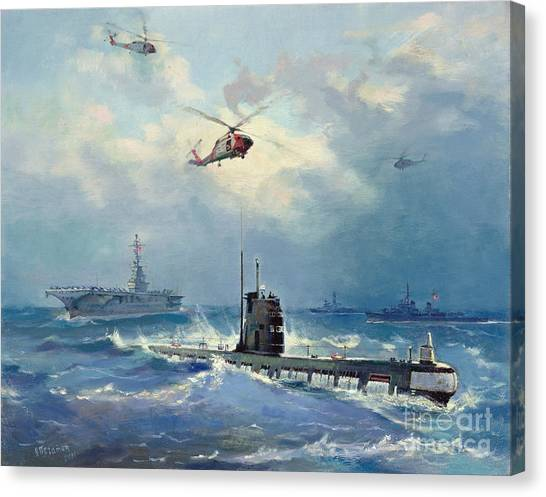 Choppers Canvas Print - Operation Kama by Valentin Alexandrovich Pechatin