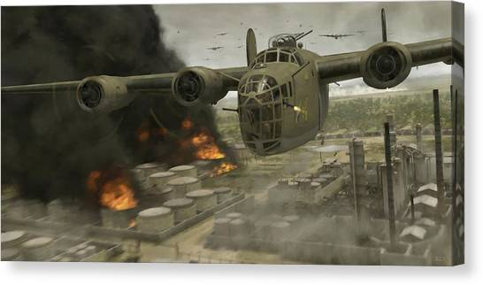 Operation Tidal Wave Head-on View - Painterly Canvas Print