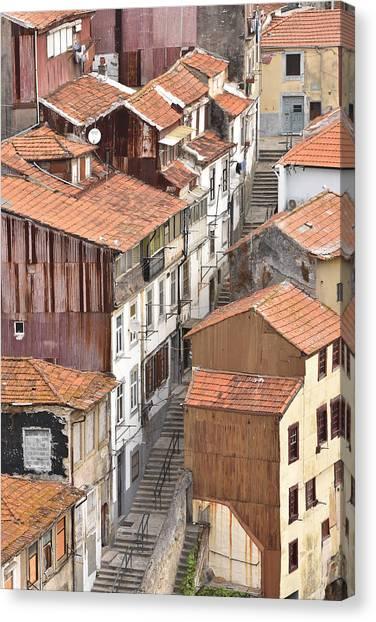 Oporto Houses Canvas Print