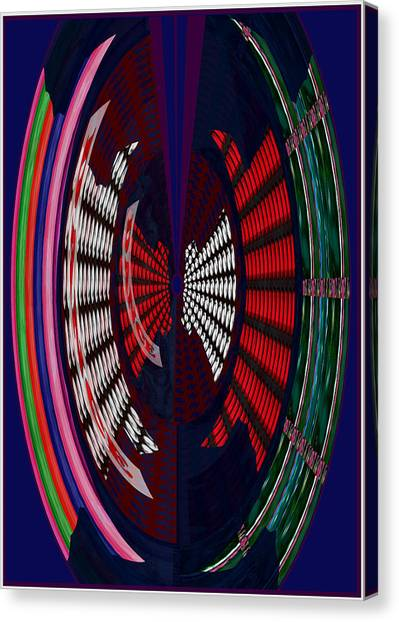 Images For Publishing Canvas Print - Opposit Arc Pattern Abstract Digital Graphic Art Interior Decorations Buy Painting Print Poster Pill by Navin Joshi