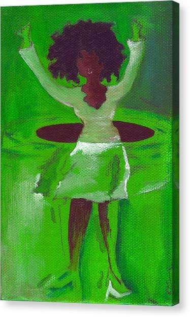 Oprah Hulas Canvas Print