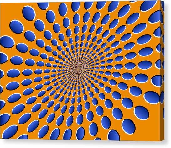Psychedelic Canvas Print - Optical Illusion Pods by Michael Tompsett