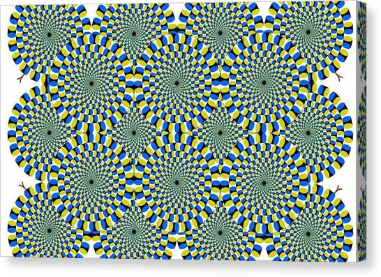 Optical Illusion Spinning Circles Canvas Print