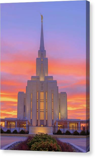 Judaism Canvas Print - Oquirrh Mountain Temple IIi by Chad Dutson