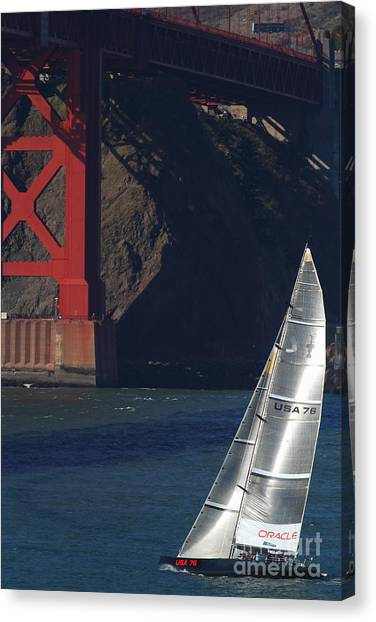 Oracle Racing Team Usa 76 International America's Cup Sailboat . 7d8071 Canvas Print