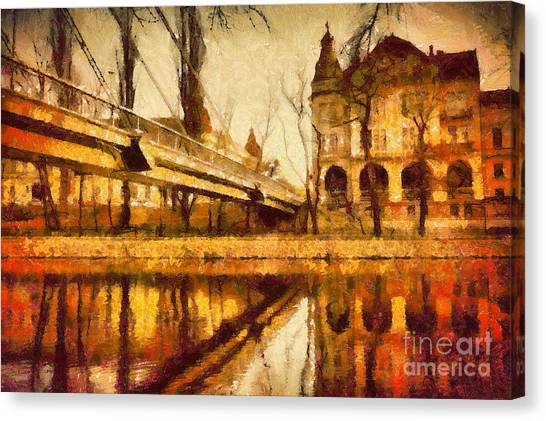 Oradea Chris River Canvas Print