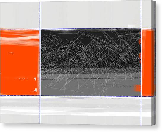 Tasteful Canvas Print - Orange And Black by Naxart Studio