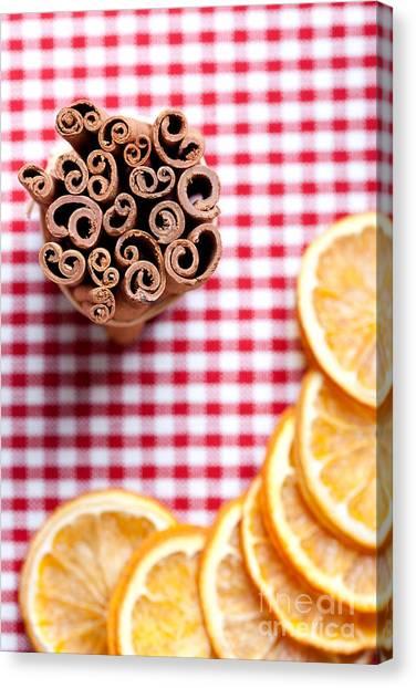 Bakeries Canvas Print - Orange And Cinnamon by Nailia Schwarz