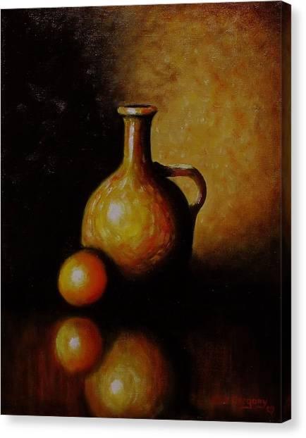 Orange And Jug Canvas Print
