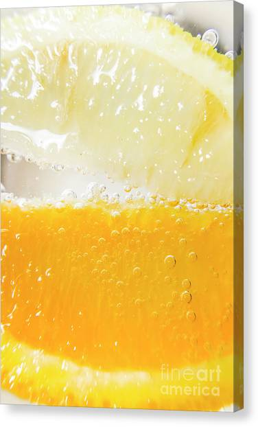 Limes Canvas Print - Orange And Lemon In Cocktail Glass by Jorgo Photography - Wall Art Gallery