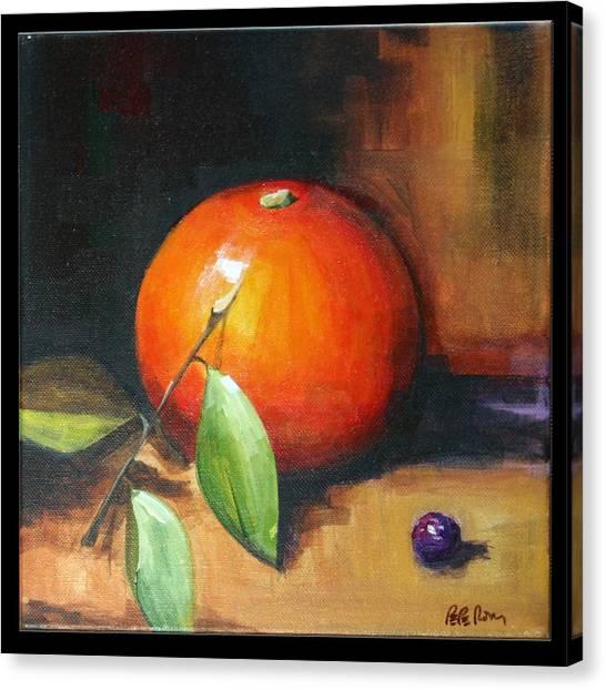 Orange And Purple Canvas Print by Pepe Romero