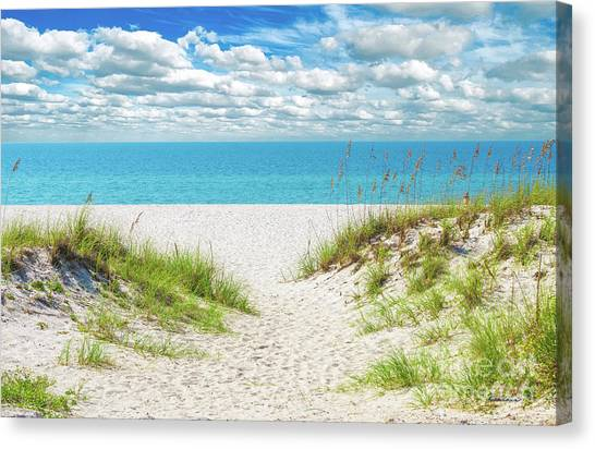 Orange Beach Al Seascape 1086a Canvas Print