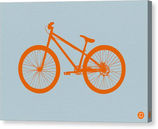 European Canvas Print - Orange Bicycle  by Naxart Studio