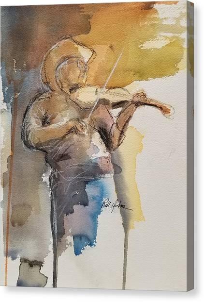 Bluegrass Canvas Print - Orange Blossom Special by Robert Yonke