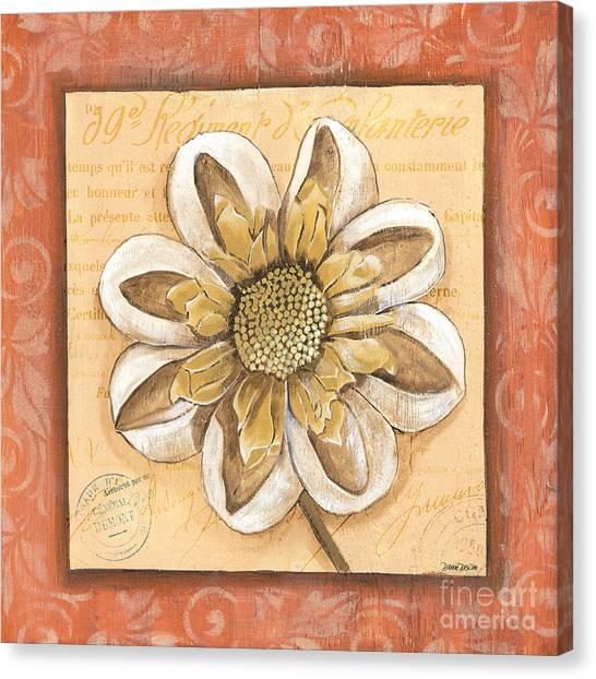 Dahlias Canvas Print - Orange Bohemian Dahlia 2 by Debbie DeWitt