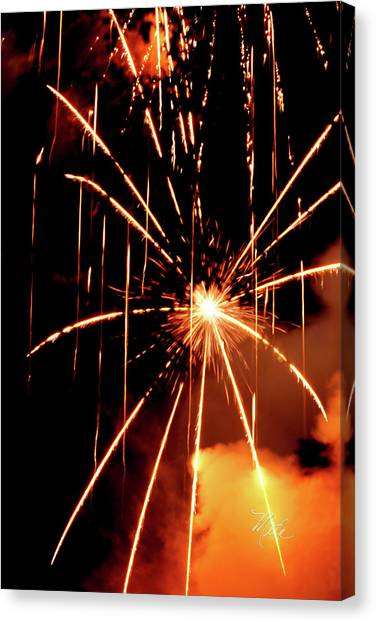 Orange Chetola Fireworks Canvas Print