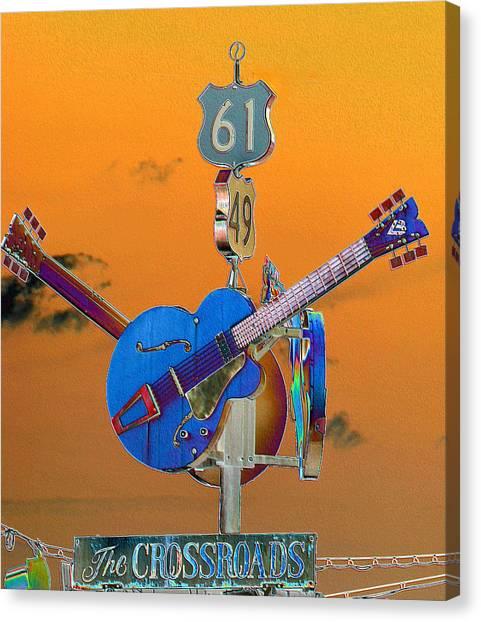 Orange Crossroads Canvas Print