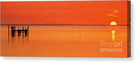 Sunrise Horizon Canvas Print - Orange Crush Sunrise by Benanne Stiens