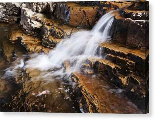 Uinta Canvas Print - Orange Falls by Chad Dutson