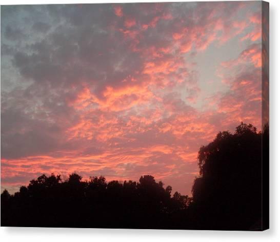 Orange Florida Sunset Canvas Print by Warren Thompson