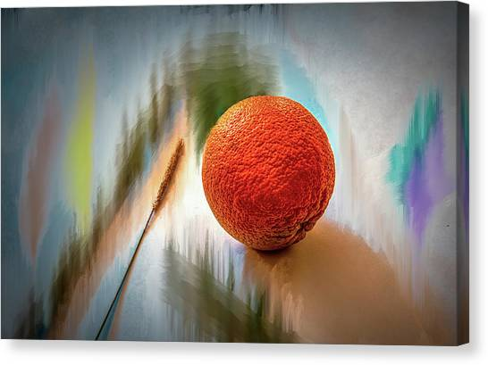 Canvas Print featuring the photograph Orange #g4 by Leif Sohlman