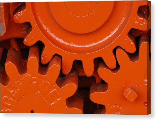 Orange Gear 2 Canvas Print