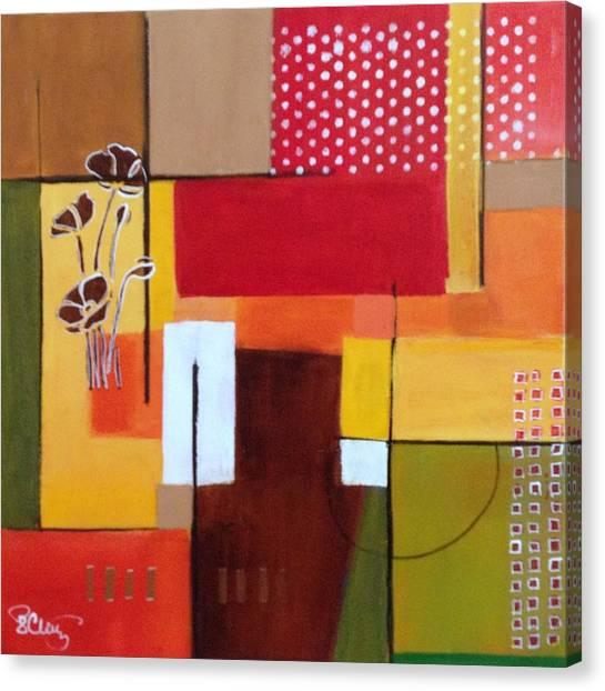 Orange Green, Abstract  Canvas Print