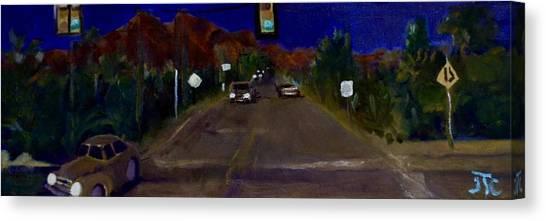 Orange Grove And La Canada Canvas Print