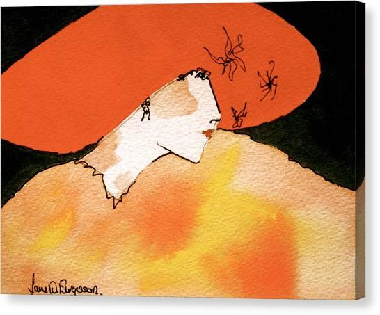 Canvas Print - Orange Hat by Jane Ferguson