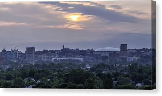 Syracuse University Canvas Print - Orange Haze by Everet Regal