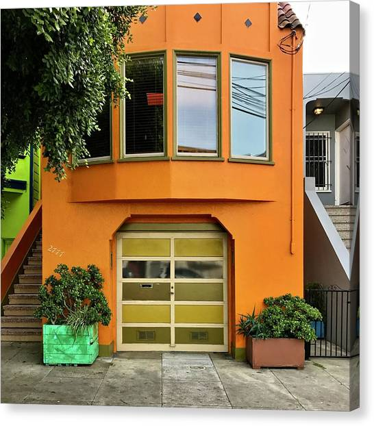 Canvas Print - Orange House by Julie Gebhardt