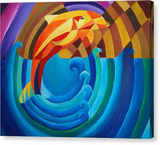 Orange Joy Canvas Print by Esther King