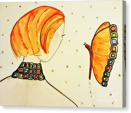 Orange Match Canvas Print