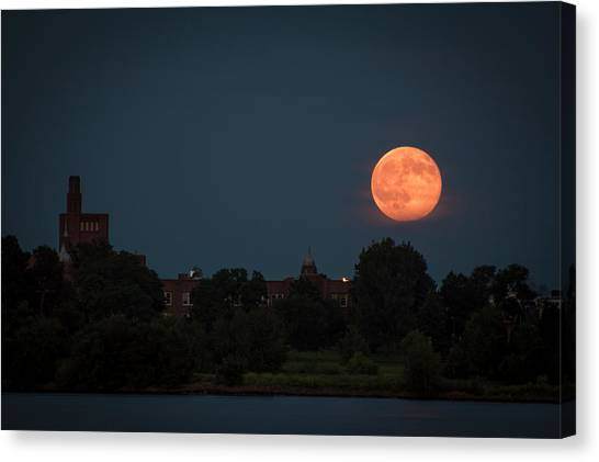 Orange Moon Canvas Print