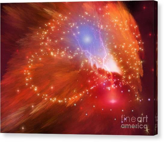 Stellar Canvas Print - Orange Nebula by Corey Ford
