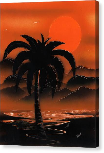 Orange Oasis Canvas Print