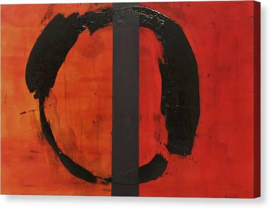 Orange Order In Chaos Canvas Print by Ellen Beauregard