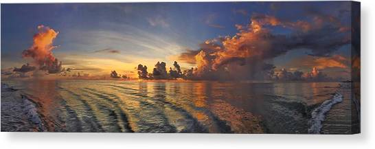 Orange Panorama Canvas Print