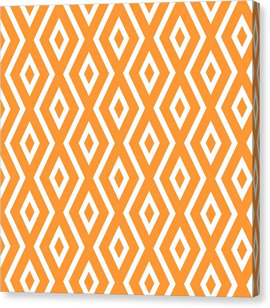 Pattern Canvas Print - Orange Pattern by Christina Rollo