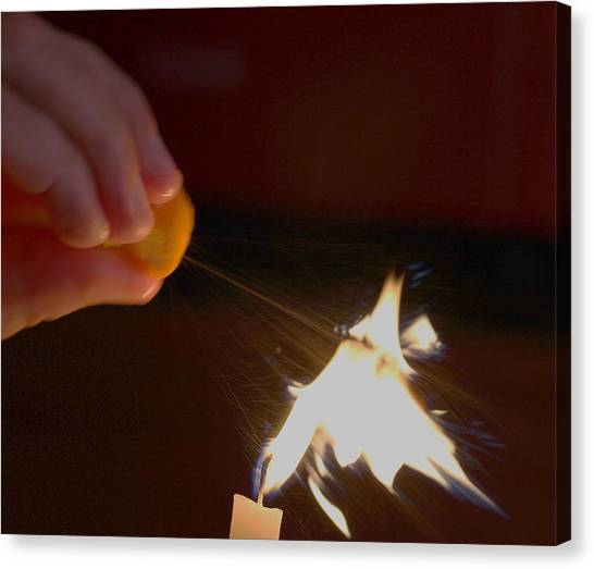 Orange Peel Flame Thrower. Canvas Print