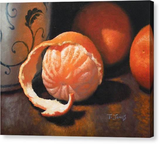 Orange Peeled Canvas Print