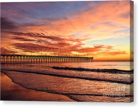 Orange Pier Canvas Print